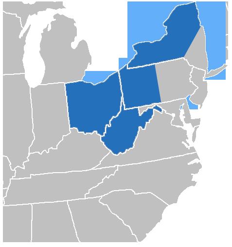 R.J. Lang Territory Map